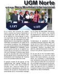 UGM Norte entrega Beca de Movilidad Internacional